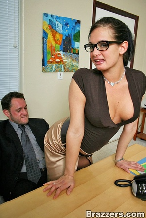 Large breasts. Hot office chick with big - XXX Dessert - Picture 3