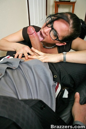 Large breasts. Hot office chick with big - XXX Dessert - Picture 5