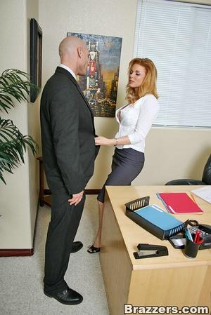 The office xxx. Busty secretary getting  - XXX Dessert - Picture 2
