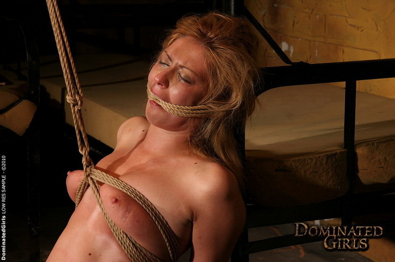 Humiliated. Dominated blonde girl got her - Unique Bondage - Pic 5