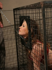 Roughsex. Laurah the caged willing pet got - Unique Bondage - Pic 2