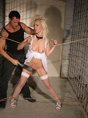 Xxx spanking. Pretty blonde girl handcuffed - Unique Bondage - Pic 3