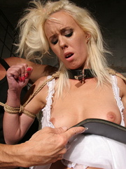 Xxx spanking. Pretty blonde girl handcuffed - Unique Bondage - Pic 4