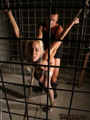 Xxx spanking. Pretty blonde girl handcuffed - Unique Bondage - Pic 11