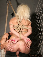 Xxx spanking. Pretty blonde girl handcuffed - Unique Bondage - Pic 12