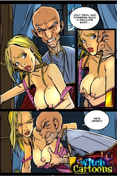 Free toon porn. Kinky priest examines witch's body. - Picture 2
