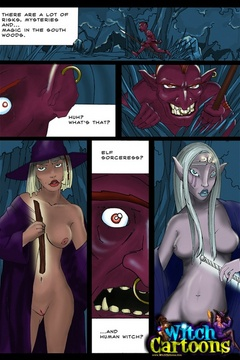 Porn comix. Elf babe fucks a witch. - Picture 2
