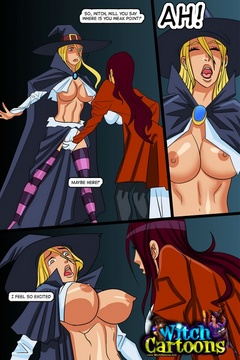 Sexy cartoons. The inquisition of witch's butthole. - Picture 2