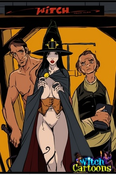 Adult cartoons. Stacked witch giving sloppy blowjob. - Picture 1
