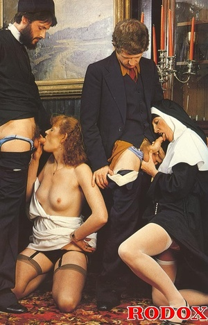 Hairy. Seventies nuns and priests love t - XXX Dessert - Picture 7