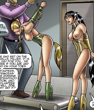 Dressed like horse toon girls gets - BDSM Art Collection - Pic 2