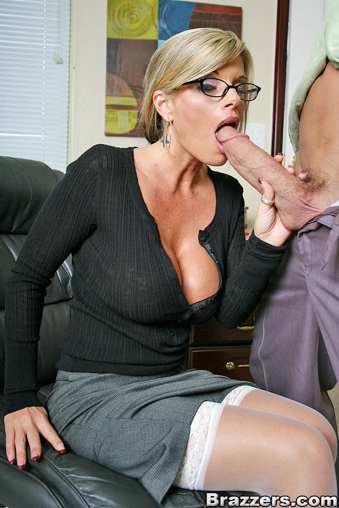 Mature busty secretary hard
