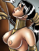 Dressed like horse toon girls gets humiliated on these bdsm art pics.