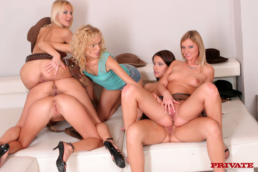 Casually come Group of milfs lesbian orgy