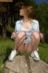 Women peeing. Spying on exciting beautiful teen…
