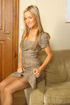 Nylons. Carman looks amazing in secretary dress and tan stockings.