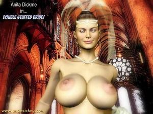 3d cartoon porn. Double Stuffed Bride. - XXX Dessert - Picture 1