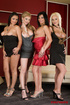 Group porn. Four amazing, elegant babes showing…