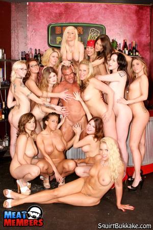 girl squirt bukkake Lesbian glam bukkake hotties get wam.