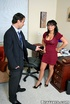 Busty. Busty Eva Angelina restaurant manager…