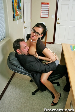 Xxx boobs. Hot office chick with big boo - XXX Dessert - Picture 4
