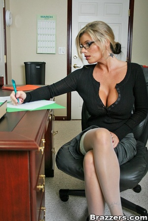 Nice boobs. Big titted mature office chi - XXX Dessert - Picture 1