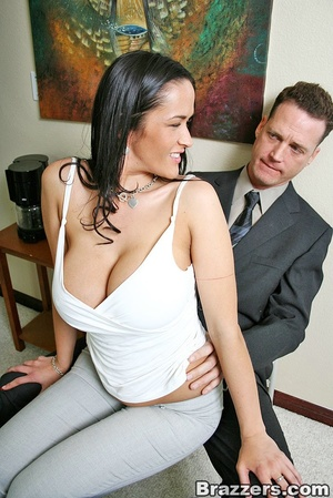 Horny secretary. Busty Carmella Bing get - XXX Dessert - Picture 1